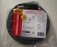 Inland Cat 5E Network Cable Black 50 Ft - DD646314