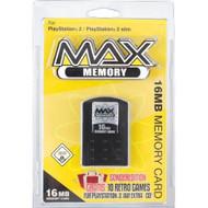 Datel Max Memory Flash Memory Module 16 MB Sony Memory Card Black For - EE648313