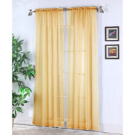 Chic Home Abby 2-Pack Rod Pocket Window Panel Gold - DD650886