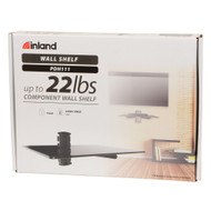 Inland PDH111 Single Component Wall Shelf TV Mount Black Floating - DD650905