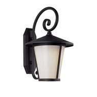 "Trans Globe LED-40351 Bk 12"" 8W 1-LIGHT LED Outdoor Wall Sconce Black - DD651602"