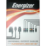Energizer Power And Play Universal Output Cables PS3 Wii Xbox 360 - EE652685