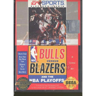 Bulls Vs Blazers And The NBA Playoffs For Sega Genesis Vintage - EE656493