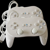 2 Classic Controller Pro For Nintendo Wii Remote White US Ship - ZZ656825
