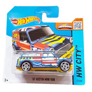 Hot Wheels Hw City 27/250 '67 Austin Mini Van On Short Card Blue Toy - DD661782