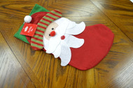Christmas House Felt Santa Claus Stocking 18 In 1/PKG Multi-Color - DD662266