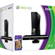 Xbox 360 S 4GB Game Console Kinect With Kinect Adventures - ZZ662301