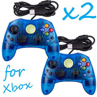 2 Lot New Blue Controller Control Pad For Original Microsoft Xbox X - ZZ663766