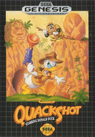Disney's Quackshot Starring Donald Duck For Sega Genesis Vintage With - EE664762