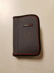 Gamestop Nylon Zippered Folio Gray Red Black UMD Grey Multi-Color For - EE664821