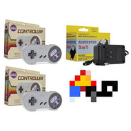 SNES Bundle: 2 Classic Controllers AC Adapter Power Cord Super - ZZ666603