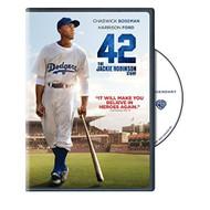 42: The Jackie Robinson Story On DVD With Chadwick Boseman Drama - EE669723