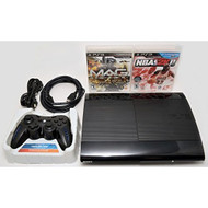Sony PlayStation 3 Super Slim 250GB Game Console System Bundle PS3 W/2 - ZZ670280
