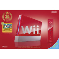 Wii Console 25th Anniversary Super Mario Red System - ZZ670656