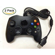 2 Pack Black Wired Controller For Xbox S-Type Shock Controller - ZZ670806