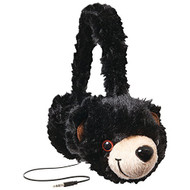 Retrak Etaudfbear Animalz Tangle-Free Headphones Black Bear - DD670996
