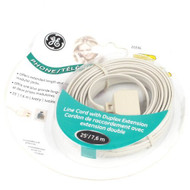 GE 20396 4 Conductor 25-FEET Line Cord Phone Cord Cable Extension Line - EE671578