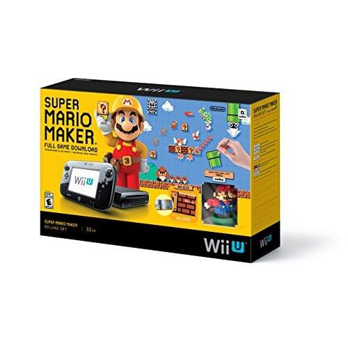 Super Mario Maker Console Deluxe Set Nintendo Wii U 32GB With Amiibo -  ZZ671678