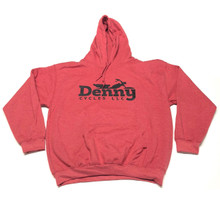 Denny Cycles Heather Sport Scarlet Red Hoodie (L)