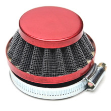 Red 60mm Air Filter for Dellorto SHA Carburetors Short Cone