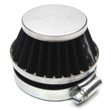 Chrome 60mm Air Filter for Dellorto SHA Carburetors Short Cone
