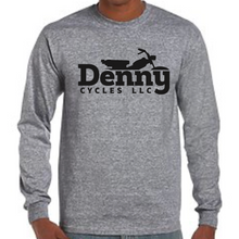Denny Cycles Graphite Heather Long Sleeve Shirt (Large)