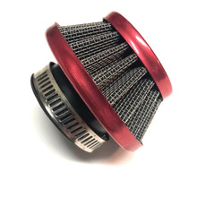 Red 35mm Cone Air Filter for Dellorto PHVA Carburetors