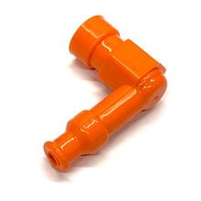 Universal Silicone 90 Degree Spark Plug Boot - Orange