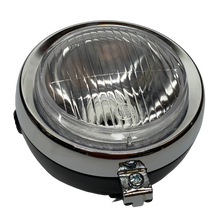 Black Guia 5 inch Moped Headlight w/ Chrome Ring