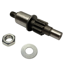 Transmission Pinon Shaft for Single Speed Vespa Piaggio Mopeds - 10T