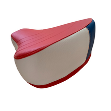 Puch Moped Solo Seat - Red, White & Blue