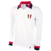 Milan Away 1960's Long Sleeve Retro Shirt 100% cotton