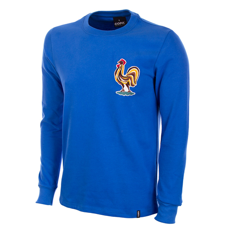 France 1970's Long Sleeve Retro Shirt 100% cotton