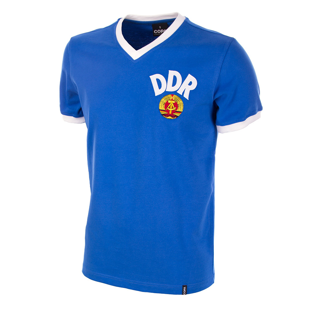 31bae5d05df DDR WC 1974 Short Sleeve Retro Shirt 100% cotton