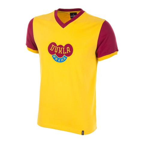 Dukla Prague Away 1960's Short Sleeve Retro Shirt 100% cotton