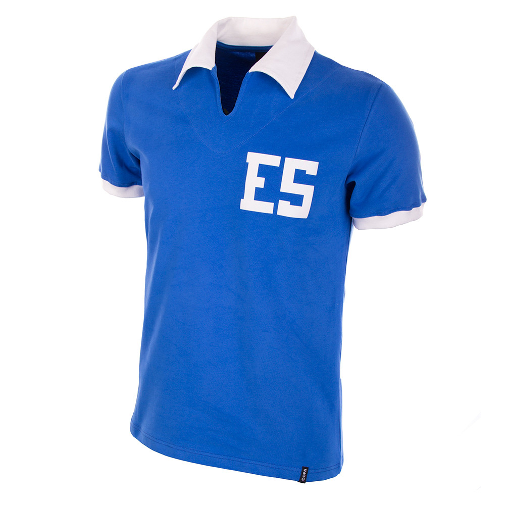 5b58b27ad El Salvador WC 1982 Short Sleeve Retro Shirt 100% cotton