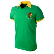 Cameroon WC 1982 Short Sleeve Retro Shirt 100% cotton