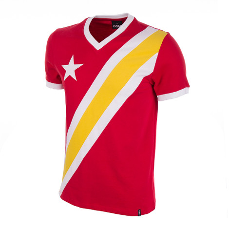 Congo 1968 Coupe Afrique Short Sleeve Retro Shirt 100% cotton