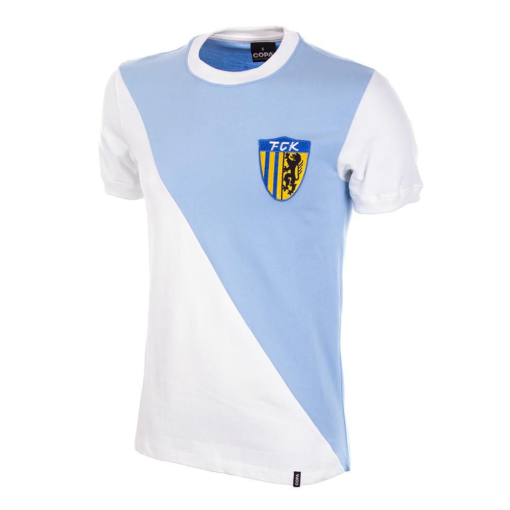 86f9820609 FC Karl-Marx-Stadt 1976/77 Short Sleeve Retro Shirt 100% cotton