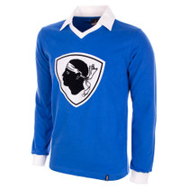 Bastia 1977/78 Long Sleeve Retro Shirt 100% cotton