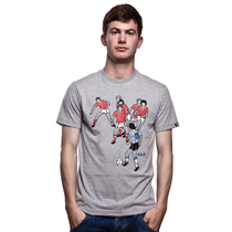 Football Fashion - 6 vs 10 T-Shirt - Grey - COPA 6392