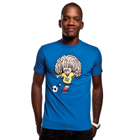 Carlos T-Shirt // Blue 100% cotton