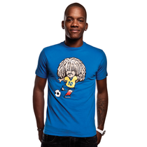 Football Fashion - Carlos Valderrama T-Shirt - Blue - COPA 6535