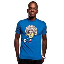 Football Fashion - Carlos Valderrama T-Shirt - Blue - COPA 6535