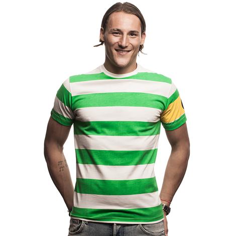 Celtic Captain T-Shirt // Green - White 100% cotton