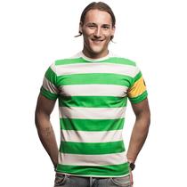 Retro Football Shirts - Celtic Captain T-Shirt - Green/White - COPA 6635