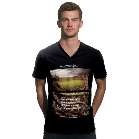 La Bombonera V-Neck T-Shirt // Black 100% cotton