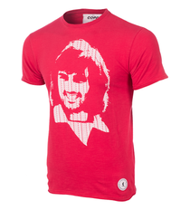 Football Fashion - George Best Repeat Logo T-Shirt - Red - COPA 6751