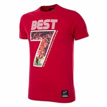 Football Fashion - George Best Miss World T-Shirt - Red - COPA 6753