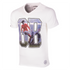 George Best GB V-Neck T-Shirt // White 100% cotton